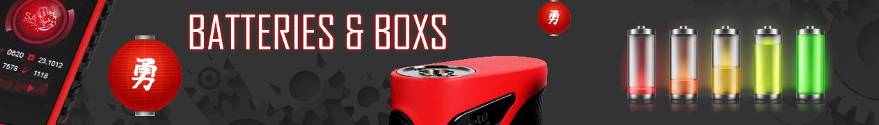 Samourai steam box et batterie accus