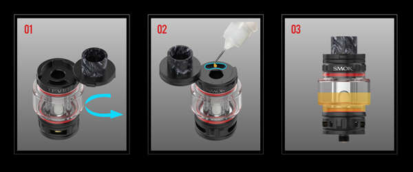 remplissage CLEAROMISEUR TFV18SMOK
